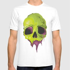 Liquid Skull White MEDIUM Mens Fitted Tee