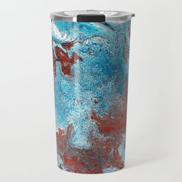 Fantasy in Copper and Blue Travel Mug