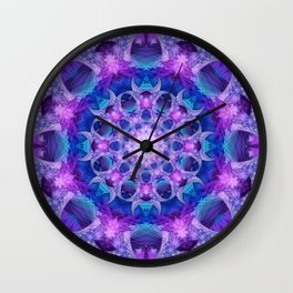 Angelic Gateway Mandala Wall Clock