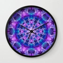 Angelic Gateway Mandala Wall Clock