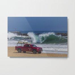Newport Beach Lifeguard Truck Metal Print