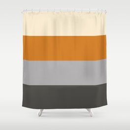 Minimal Abstract Vintage Cream Orange Grey 15 Shower Curtain