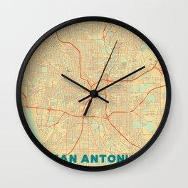 San Antonio Map Retro Wall Clock