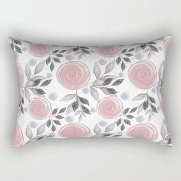 Delicate floral pattern. Rectangular Pillow