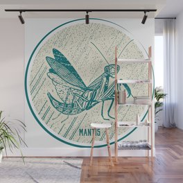 Insect's badge. Mantis. Wall Mural
