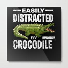 Crocodile predator Metal Print