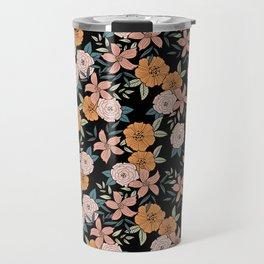 Boho Flowers Pattern Travel Mug