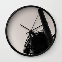 industrial Wall Clocks featuring Industrial by Tracy Wong