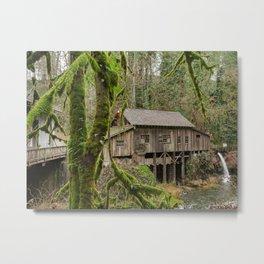 Cedar Creek Grist Mill in Woodland, Washington Metal Print