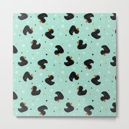 Rubber ducks Black Metal Print