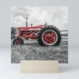 Vintage IH Farmall 450 Side View Selective Red Tractor Mini Art Print