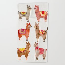 Alpacas Beach Towel