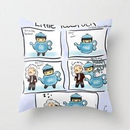 Little TeaSpock Throw Pillow
