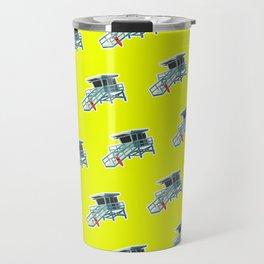 California Lifeguard Tower Travel Mug