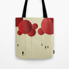 City of Red Balloons Tote Bag