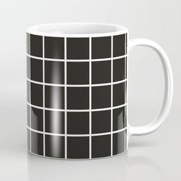 Simple black and white grid | Coffee Mug