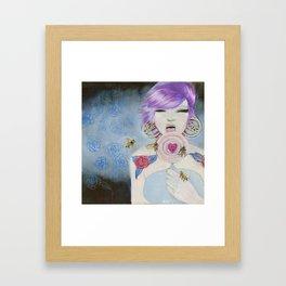 Pain and Love Framed Art Print