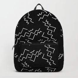 Black and White Zigzags Backpack