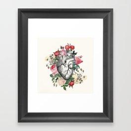 Roses for her Heart Framed Art Print