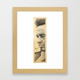 Johnny Cash Pointillism Drawing Framed Art Print