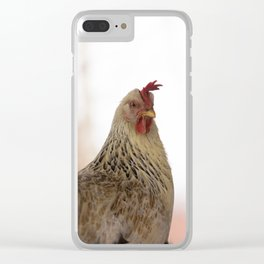 A chicken in the portrait Clear iPhone Case