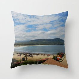 Relaxing at Los Molles beach, Chile Throw Pillow
