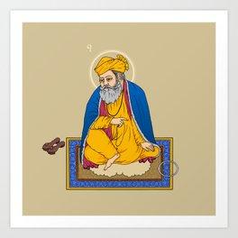 Sri Guru Nanak Dev Ji Art Print