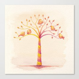 April Tree Canvas Print