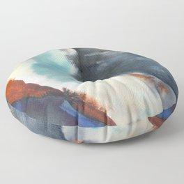 tie dye - the Earth: canyon Floor Pillow