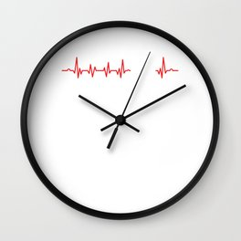 Electric Piano Musical Instruments Musicians Music Cool Keyboardist Heartbeat Gift Wall Clock