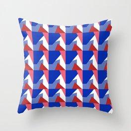 El Blue Cruce Throw Pillow
