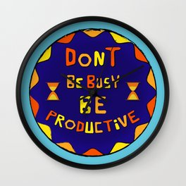 Motivation Quote - Blue Wall Clock