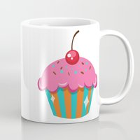 cupcake Mugs featuring Cupcake by Tori Dubis