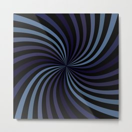 Deep Blue Swirl Metal Print