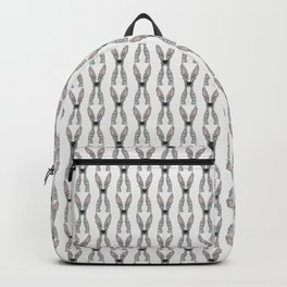 Blue and White Greyhound (white snout) Backpack