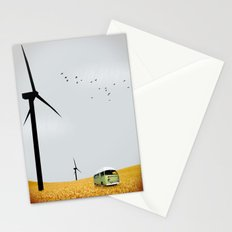 green wagon Stationery Cards
