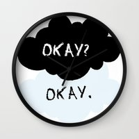 fault in our stars Wall Clocks featuring The Fault In Our Stars by swiftstore