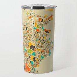 Boston map Travel Mug