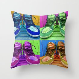 Sneaker Popart Throw Pillow