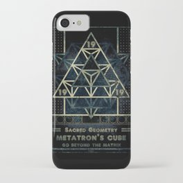 Sacred Geometry for your daily life - METATRON MATRIX iPhone Case