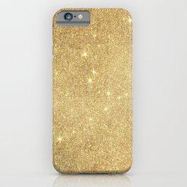 Elegant stylish faux gold glitter iPhone Case