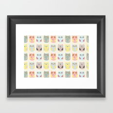 owls pattern Framed Art Print