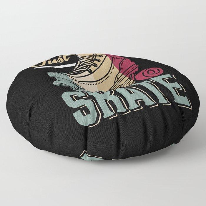 Just Skate | Retro Roller Skating Floor Pillow