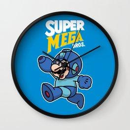 Super Mega Bros Wall Clock