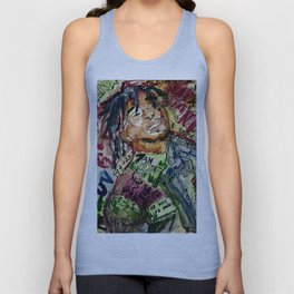 colorful hiphop,poster,lil,rap,artist,music,lyrics,colourful,poster,cool,dope,print,uzi Unisex Tank Top