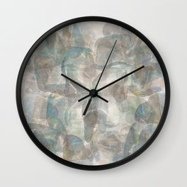 Whispers Grey Blue Abstract Wall Clock