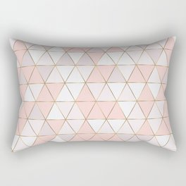 Pink geometrc trianges print Rectangular Pillow