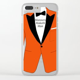 Manners maketh man Clear iPhone Case