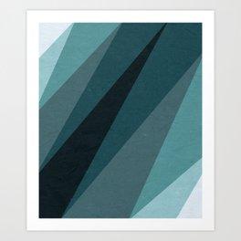 Six Shades of Sea Art Print
