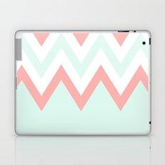 Mint & Coral Chevron (3) Laptop & iPad Skin